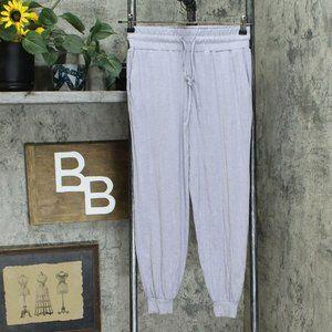 AnyBody Slub Jogger Pants Lilac Grey Petite XXS